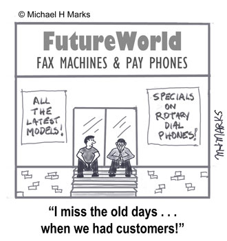 I miss the old days when we had customers.